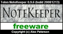 NoteKeeper 0.9.6 Splash Screen