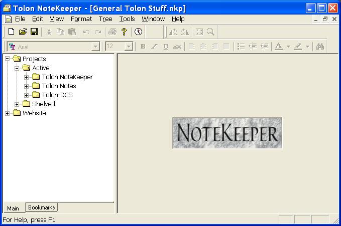 Tolon NoteKeeper full screenshot