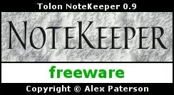 NoteKeeper 0.9.8 Splash Screen