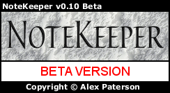 Splash screen for Tolon NoteKeeper 0.10 BETA